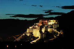 The Potala at Dusk Royalty Free Stock Image