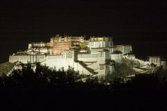 Potala ha illuminato Fotografie Stock