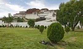 potala lhasa pałacu Obraz Royalty Free