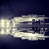 Potala. In the night reflection royalty free stock photo