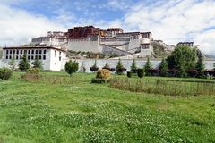 Potala pałac w Tybet fotografia stock