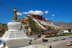 Potala Palace. In Lhasa, Tibet Stock Images
