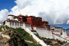 Potala Palace. On sunny summer day Tibet stock photography