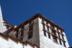 The Potala Palace. Front side of The Potala Palace in Lhasa, Tibet. This part is called the white palace of the Potala Royalty Free Stock Photos