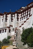 The Potala Palace. Front side of The Potala Palace in Lhasa, Tibet. The steps are the way to entrance for all tourists Royalty Free Stock Image