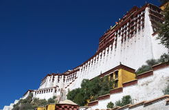 The Potala Palace. Front side of The Potala Palace in Lhasa, Tibet. The part in white is called the white palace of the Potala Stock Images