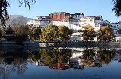 The Potala Palace. Was the chief residence of the Dalai Lama until the 14th Dalai Lama fled to Dharamsala, India, after an invasion and failed uprising in 1959 royalty free stock photography