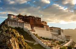 The Potala Palace. Under sunlight, in tibet Royalty Free Stock Image