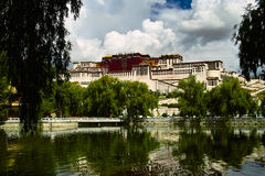 Potala Palace. Situated on Hongshan Mountain in Lhasa, the capital city of the Tibet Autonomous Region, Potala Palace is 3,700 meters above sea level Royalty Free Stock Image