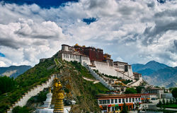 Potala Palace. Situated on Hongshan Mountain in Lhasa, the capital city of the Tibet Autonomous Region, Potala Palace is 3,700 meters above sea level Royalty Free Stock Images