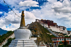 Potala Palace. Situated on Hongshan Mountain in Lhasa, the capital city of the Tibet Autonomous Region, Potala Palace is 3,700 meters above sea level Royalty Free Stock Photography