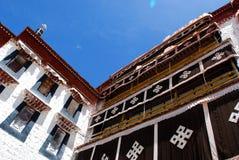 Potala Palace. Potala polace with blue sky Stock Photography