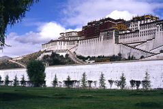 Potala Palace. It is potala palace in Tibet of China.with blue sky it is a historic building. (use Koda positive film E100vs Stock Photo