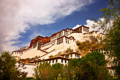 Potala Palace. A wide-angle image of the magnificent Potala Palace in Lhasa, Tibet Royalty Free Stock Images