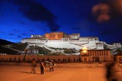 The Potala Palace. At dusk Stock Photos