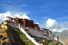 Potala Palace. Famous building in Tibet, Lhasa. Exactly the picture in the back of 50 RMB cash Stock Photography