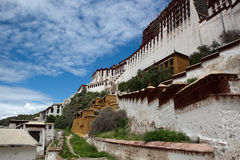 Potala palace and cloudscape Stock Images