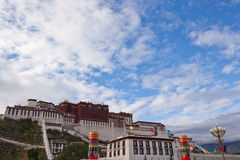 Potala palace and cloudscape Stock Photography