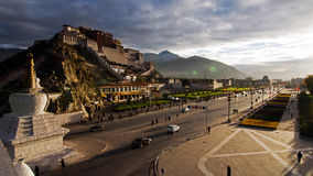 Potala Palace in Dawn Stock Images
