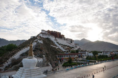 Potala palace dawn Stock Photos