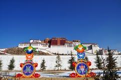 Potala Palace Decorated during Spring Festival. Lhasa, Tibet. Royalty Free Stock Photos