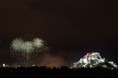 Potala palace firework Stock Photography