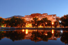 Potala palace and its reflection Royalty Free Stock Photography