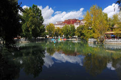 Potala palace and its reflections in pond Stock Photography