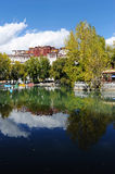 Potala palace and its reflections in pond Stock Photo