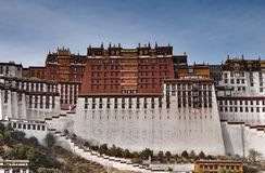 Potala palace in Lhasa royalty free stock photography