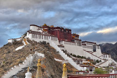 Potala Palace in Lhasa with beautiful sky Stock Image