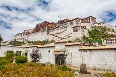 Potala Palace, Lhasa, China Tibet. Majestic Potala Palace during spring in Lhasa, Nepal, Tibet, China Stock Photo
