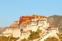 The Potala Palace in Lhasa,Tibet Royalty Free Stock Photo