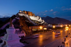 Potala Palace in Lhasa, Tibet. On the mountains northwest of Mabu, the famous castle-style buildings, ancient Tibetan architectural art of the essence Royalty Free Stock Photo
