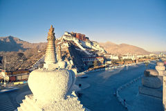The potala palace in Lhasa, Royalty Free Stock Photos