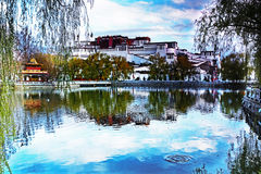 And the Potala Palace in Lhasa, Tibet. As the capital of Tibet Autonomous Region, Lhasa, Tibet, has long been the political, economic, cultural and religious Royalty Free Stock Photography