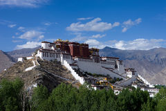 Potala Palace in Lhasa, Tibet, China. Potala Palace in Lhasa, Tibet on the mountains northwest of Mabu, the famous castle-style buildings, ancient Tibetan Stock Photography
