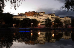 Potala Palace in Lhasa, Tibet, China. Potala Palace in Lhasa, Tibet on the mountains northwest of Mabu, the famous castle-style buildings, ancient Tibetan Royalty Free Stock Image