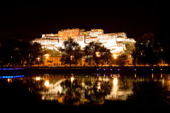 Potala Palace in Lhasa, Tibet, China. Potala Palace in Lhasa, Tibet on the mountains northwest of Mabu, the famous castle-style buildings, ancient Tibetan Royalty Free Stock Photos