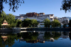 Potala Palace in Lhasa, Tibet, China. Potala Palace in Lhasa, Tibet on the mountains northwest of Mabu, the famous castle-style buildings, ancient Tibetan Royalty Free Stock Photo