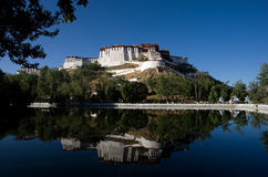 Potala Palace in Lhasa, Tibet, China. Potala Palace in Lhasa, Tibet on the mountains northwest of Mabu, the famous castle-style buildings, ancient Tibetan Stock Photos