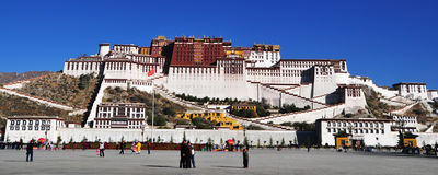 Potala Palace in Lhasa, Tibet, China. Potala Palace (English transliteration: the Potala Palace), commonly known as Mount Putuo, stands in the northwest of Red Royalty Free Stock Photos