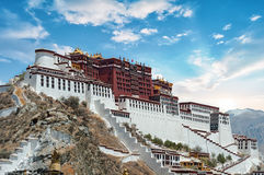 Potala Palace in Lhasa ( Tibet ) on clear day Royalty Free Stock Image