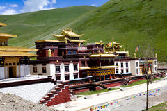 Potala palace in Lhasa, Tibet with green mountain background Stock Photo