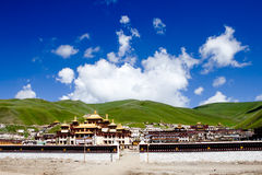 Potala palace in Lhasa, Tibet with green mountain background Stock Images