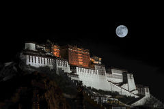 The Potala Palace of moonlight Stock Photography