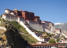 Potala palace on mountain Stock Photos