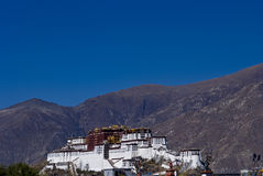 The potala palace with mountain Royalty Free Stock Image