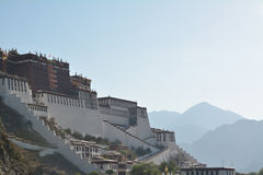Potala palace  and mountain in Tibet Royalty Free Stock Photography
