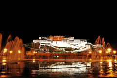 Potala Palace Night Stock Photography